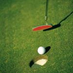 Golf Put into Hole